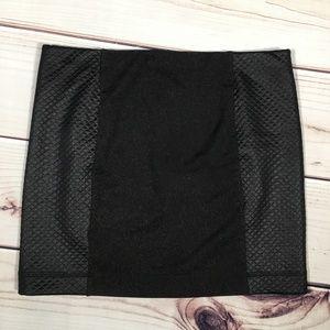 RACHEL ROY Black Quilted Mini Skirt Size 8
